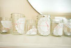 Doily jars with Divine Twine