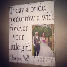 Today a bride tomorrow a wife....12x14 by MasonCreations2012, $35.99
