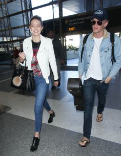 With Cody Simpson at LAX   - ELLE.com