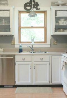 Kitchen Cabinet Molding and Trim Ideas . Unique Kitchen Cabinet Molding and Trim Ideas . Kitchen Cabinets Trim, Kitchen Cabinet Molding, Cabinet Trim, Laminate Cabinets, Built In Cabinets, Painting Kitchen Cabinets, Cream Cabinets, Kitchen Paint, Bathroom Cabinets