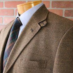 Johnston Amp Murphy Conrad Brown Tweed Suede Details Sportcoat 100 Wool Sz L   eBay