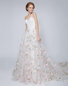 "160 Likes, 2 Comments - Rico-A-Mona Bridal (@ricoamona) on Instagram: ""Gasp! So much love for this dreamy floral gown"""