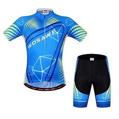 Bazaar WOSAWE Unisex Cycling Shorts Suits Short Sleeve Set Bicycle Jersey Sports Shorts Summer Reflective ** For more information, visit image link.(It is Amazon affiliate link) #clouds