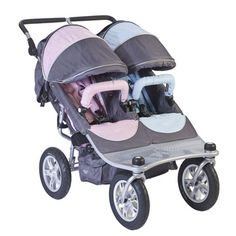 "Valco Baby Twin Tri-mode ""boy meets girl"" double stroller...can push  with one finger, fits through standard doorways, and folds easily...highly recommend!"
