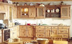 Rustic Country Kitchens | Avonlea Painted Made from solid French oak, the Avonlea range is ...