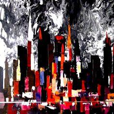 City Skyline Painting | Eric Aristidou