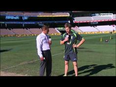 Steve Smith speaks to Ian Ward ahead of day three from Melbourne