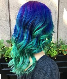 205 Best Mermaid Hair Green Blue Purple Images In 2019 Haircolor