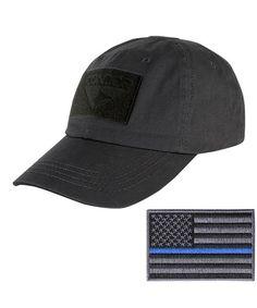 6e717b1197343 Condor Tactical Cap with Thin Blue Line Morale Patch Bundle Black  CI12MZHPRPB