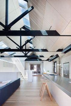 Andrew Simpson Architects refurbished and converted a late 19th century industrial #warehouse with a stunning result  #conversion  #beams