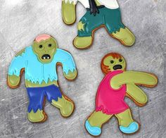 Unleash the walking deliciousness on your home when you whip up a batch of treats using the zombie cookie cutters. These novelty cookie cutters make ideal snacks for zombie viewing parties and let you flip the cards on them as you take a bite of their sugary limbs or head.