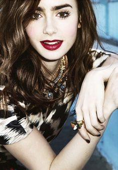Lilly collins; she makes me want dark hair again! (;