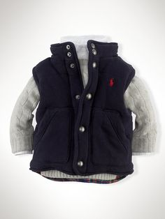 Cotton-Blend Fleece Vest - Outerwear & Jackets | Ralph Lauren