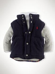 Cotton-Blend Fleece Vest - Outerwear & Jackets | Ralph  Lauren
