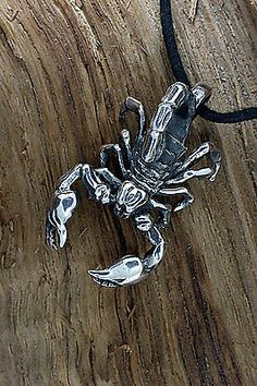 925 Sterling Silber ,Skorpion, Scorpion, Ketten-Anhänger, Sternzeichen, Biker