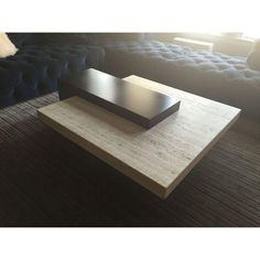 Image of Italian Two-Tiered Levitating Marble Coffee Table