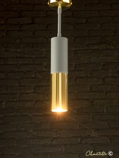 Bring a modern feel to your interior with this slim spotlight with a matt grey and polished brass finish. Spot Lights, Wall Lights, Polished Brass, Light Up, Slim, Grey, Interior, Modern, Design