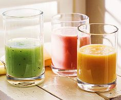 Save money and calories by blending fruit smoothies at home.