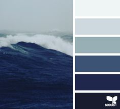 Explore Design Seeds color palettes by collection. Ocean Color Palette, Ocean Colors, Blue Colour Palette, Colour Schemes, Blue Color Pallet, Color Combos, Color Concept, Sea Colour, Color Balance