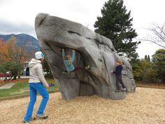 Eldorado has created some stunning climbing walls. Boulder Climbing, Rock Climbing Gear, Backyard Play, Backyard For Kids, Bloc Escalade, Home Climbing Wall, Cool Playgrounds, Bouldering Wall, Backyard Creations