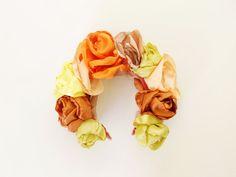 MAYA  / Satin floral crown / kokoshnik Mexican Weddings, Floral Crown, Maya, Satin, Trending Outfits, Store, Unique Jewelry, Handmade Gifts, Girls