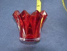 Mikasa skyline red tealight, votive holder, NIB. 7 avail. open bild $10