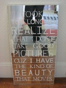 """""""it took me too long to realize that i don't take good pictures cuz i have the kind of beauty that moves"""" ani difranco"""