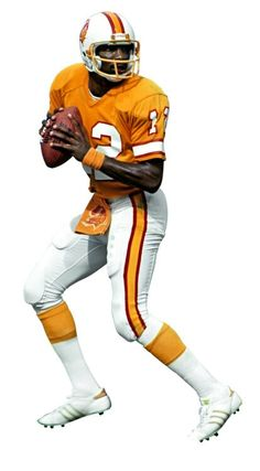 Doug Williams played with Tampa Bay before joining the Washington Redskins. Football Cheerleaders, Nfl Football, American Football, Football Players, Football Stuff, Football Uniforms, School Football, Football Helmets, Sports Images