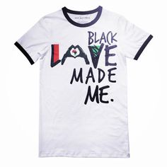 BLACK LOVE MADE ME™ Unisex Ringer Shirt | HGC Apparel