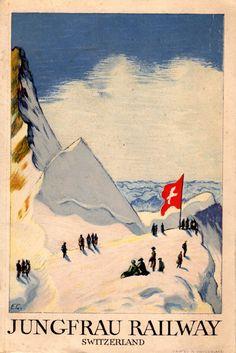 Emil Cardinaux (1877-1936): Jungfrau Railway Travel/Ski Booklet  c. 1930