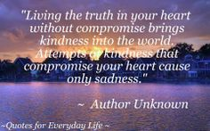 Living The Truth In Your Heart