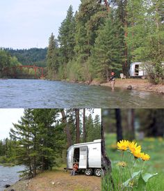 Fly fishing with our mobile fishing cabin - our Airstream