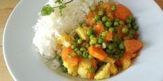 Receta de Curry vegano de guisantes y tomate