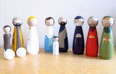 Nativity Set - 7 inch Extra Large Wooden Dolls - great gift for Christmas Nativity Scene. $325,00, via Etsy.