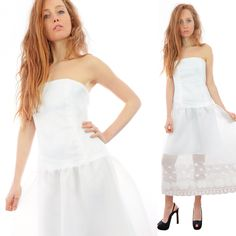Vestito Collezione CrossChic #SS16 Designer Giovanna Nicolai #White #Vintage #Elegante #Chic #Bianco