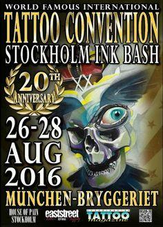Stockholm Ink Bash  26 - 28 Août 2016