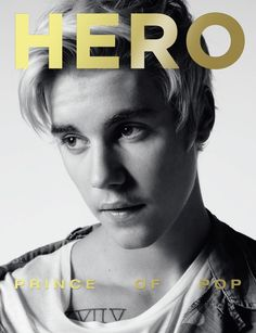 Justin Bieber by Hedi Slimane on the cover of HERO 13   HERO magazine: A new era in menswear