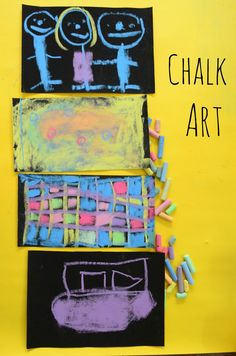 Chalk Art on Sandpaper from The Practical Mom