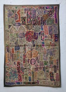 Animal Rug, Wall Carpet, Fabric Art, Wall Tapestry, Creations, Patches, Embroidery, Quilts, Boho