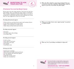 Breast cancer can cause many emotions. Your loved one may have many feelings. These can include fear, anger, sadness or frustration. This is normal. Sometimes it's hard to know what to say or do. It is important to understand what they may be thinking and feeling and provide informational support, emotional support, and practical support.