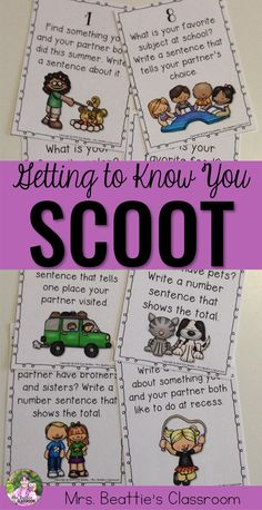 Are you a teacher looking for a creative way to help your new students get to know each other at the beginning of the school year? This Getting to Know You SCOOT game icebreaker is SO much fun!!
