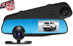 Rear View Mirror Dash Cam Car Camera Recorder Dual Lens Video 4.3'' HD 1080P UK Car Camera, Video Camera, Video 4, Dashcam, Rear View Mirror, Hd 1080p, Car Accessories, Lens, Ebay