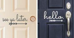 Vinyl Front Door Decals | 10 Designs!