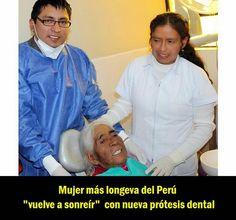 """Mujer más longeva del Perú """"vuelve a sonreír"""" con nueva prótesis dental   OVI Dental"""