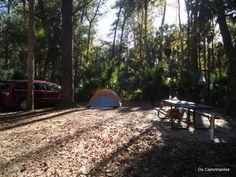 Aqui a nossa área de acampamento