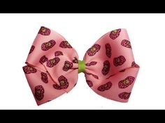 Very cool video on how to make hair bows girls instructions.  #MakeHairBowsGirls