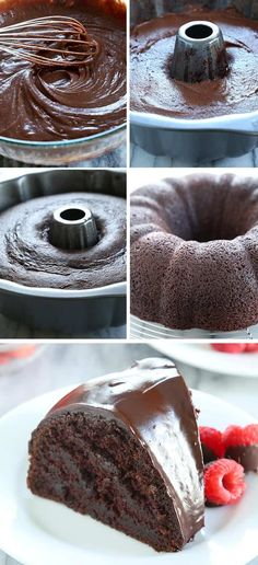 This crazy cake is a gluten free chocolate cake made with no eggs, no butter and no chopped chocolate—but it's still super moist and tender. Find out just how this simple cake is done! https://glutenfreeonashoestring.com/crazy-cake-gluten-free-chocolate-cake/