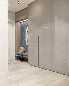 The black paneled walls and drop ceiling in this hallway lea Wardrobe Door Designs, Wardrobe Design Bedroom, Modern Bedroom Design, Closet Designs, Wardrobe Closet, Fitted Bedroom Furniture, Hall Furniture, Wardrobe Furniture, Luxury Furniture