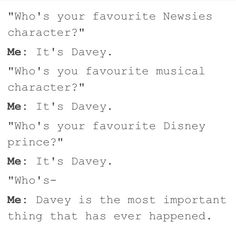 oh, look, it's me. Like i love Davey Jacobs more than i love myself