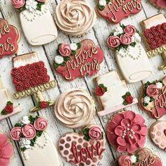 Cookies; floral; rose;